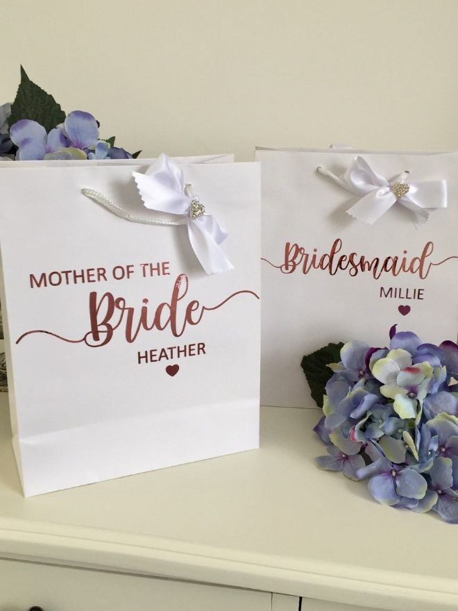 Wedding Party Gift Bags Personalised